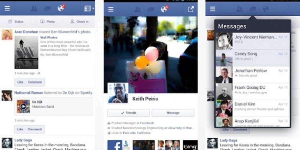 Facebook obliga a sus empleados a usar la app de Android para que vean lo mala que es