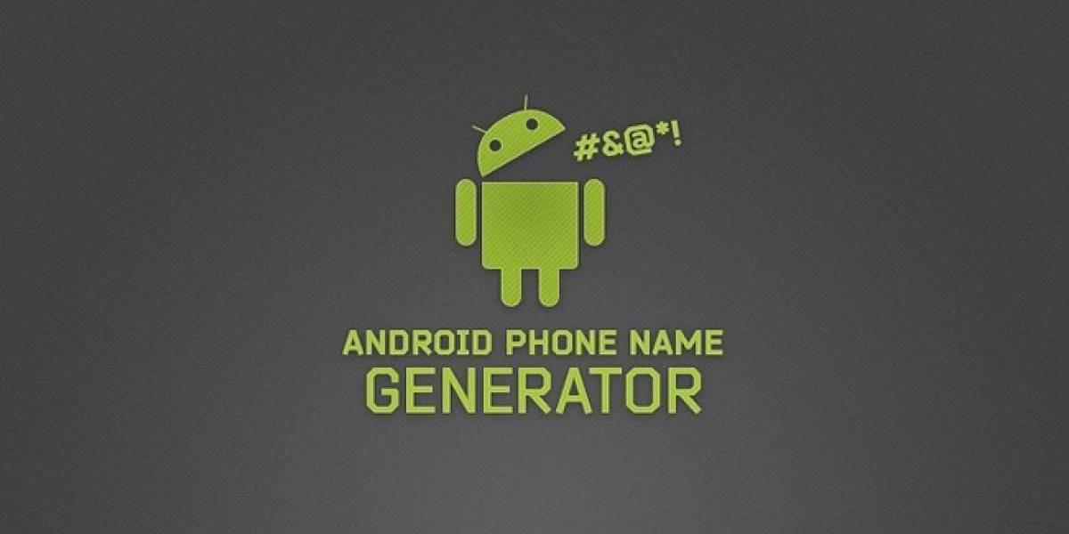 El increíble generador de nombres de smartphone Android