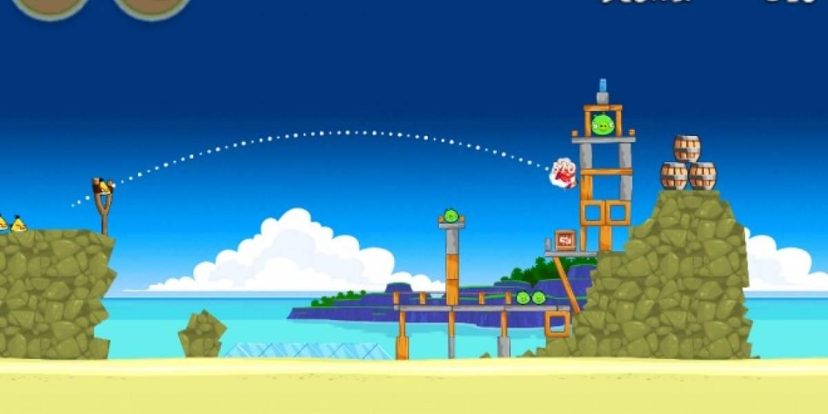 Actualización de Angry Birds incluye 15 niveles tropicales extra