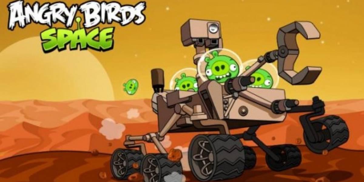Angry Birds visitan al Curiosity en Marte