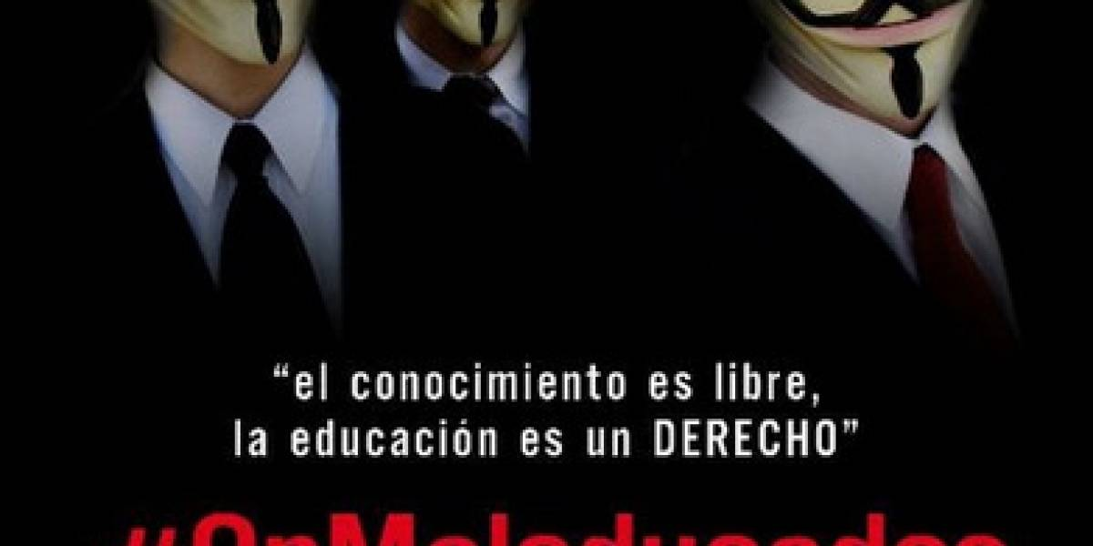 Anonymous inicia protesta por la educación en Republica Dominicana