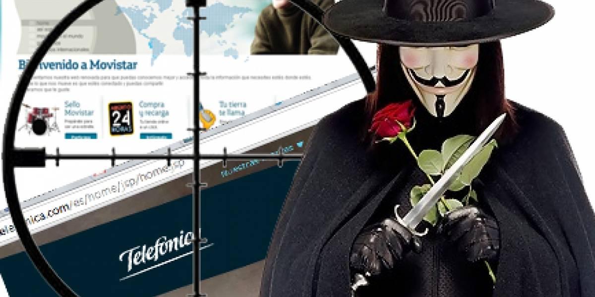 Telefónica: Próximo objetivo de Anonymous