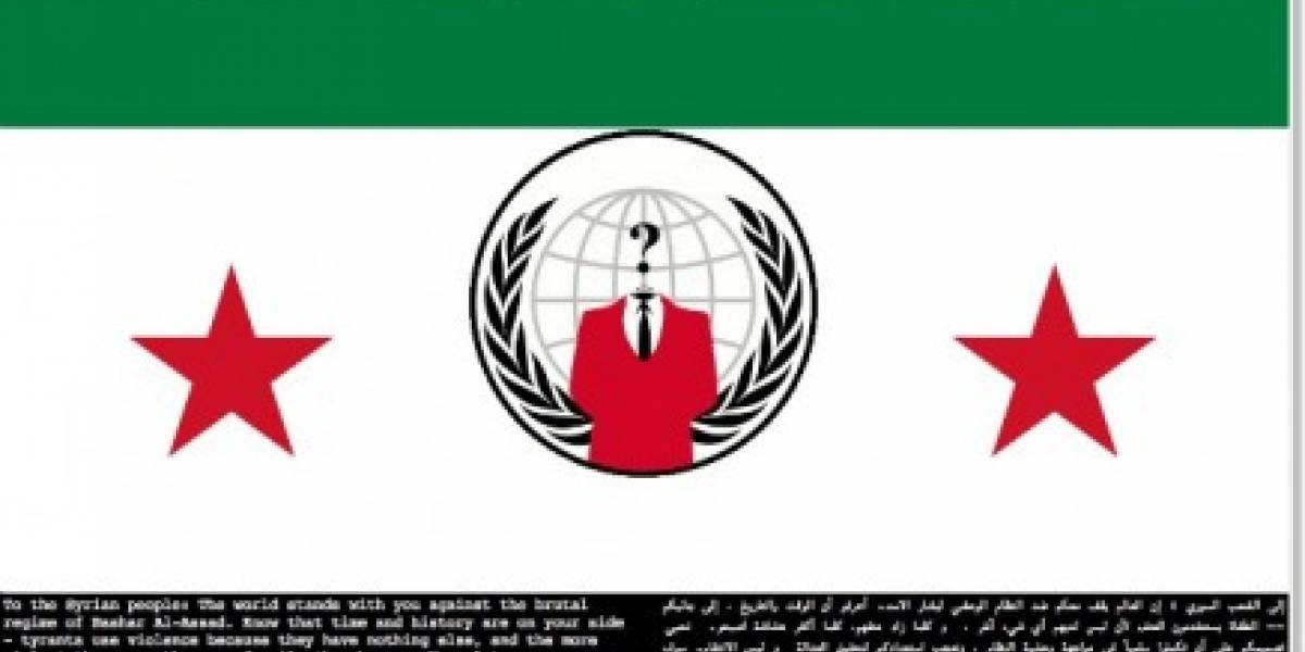 Anonymous hackea al Ministerio de Defensa de Siria