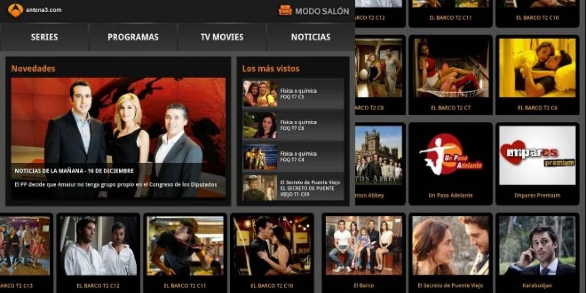 La española Antena 3 llega a los dispositivos móviles de Samsung
