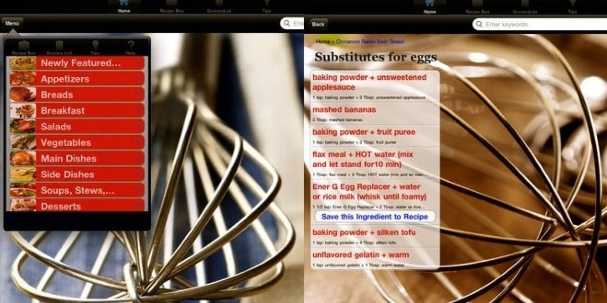 Una app para cocinar libre de gluten y sin alergias