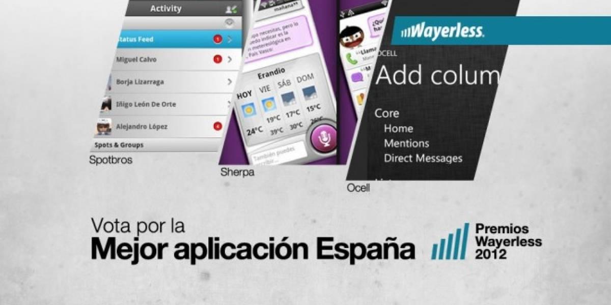 Vota por la Mejor Aplicación España 2012