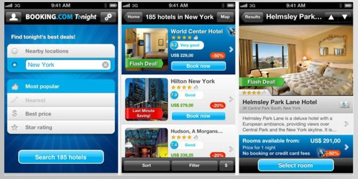 Tonight, una aplicación para no quedarte sin habitación... En el último momento