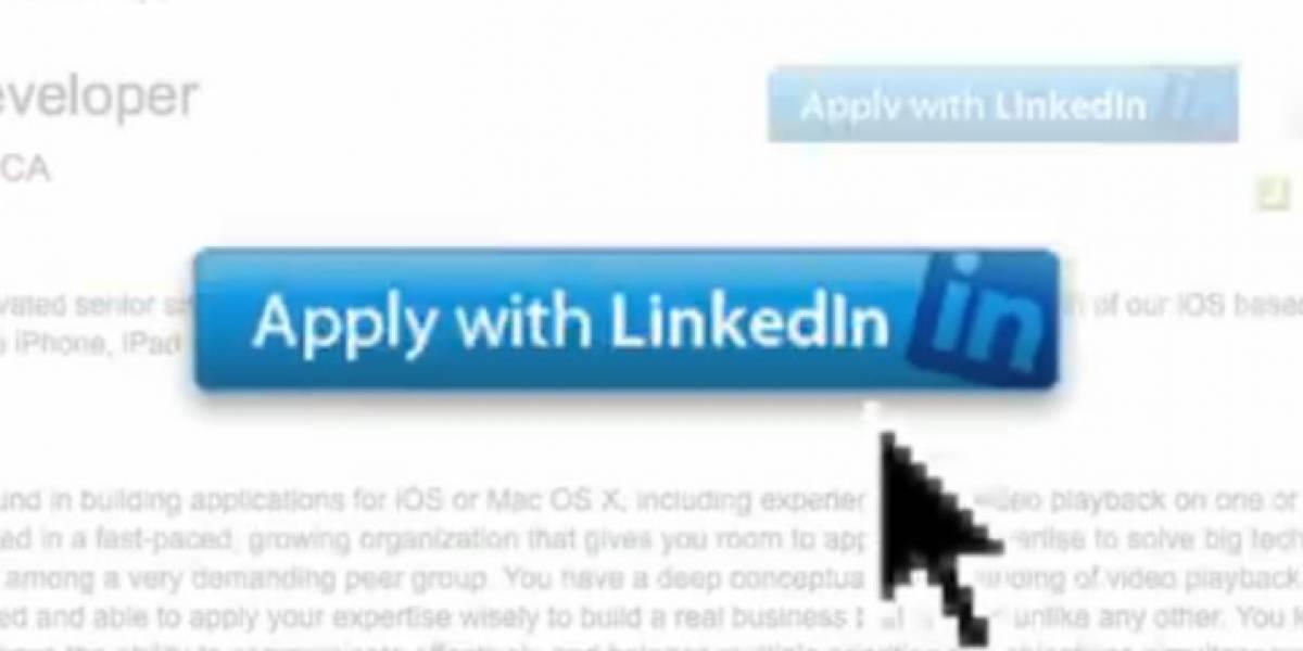 LinkedIn lanza un botón para postular a empleos