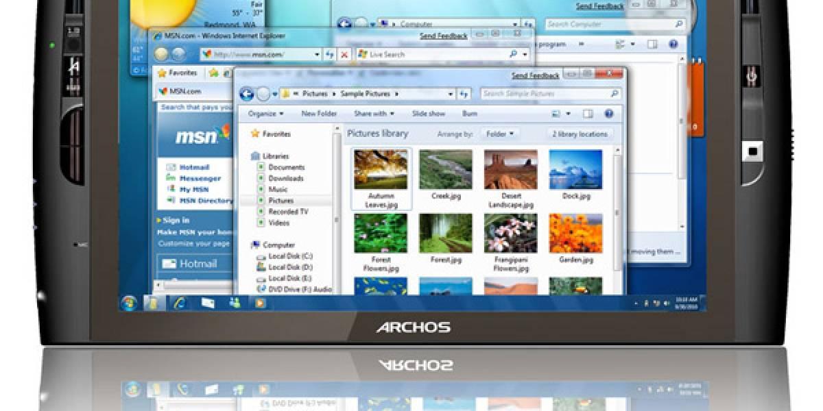 Archos 9, tablet con Atom y Windows 7