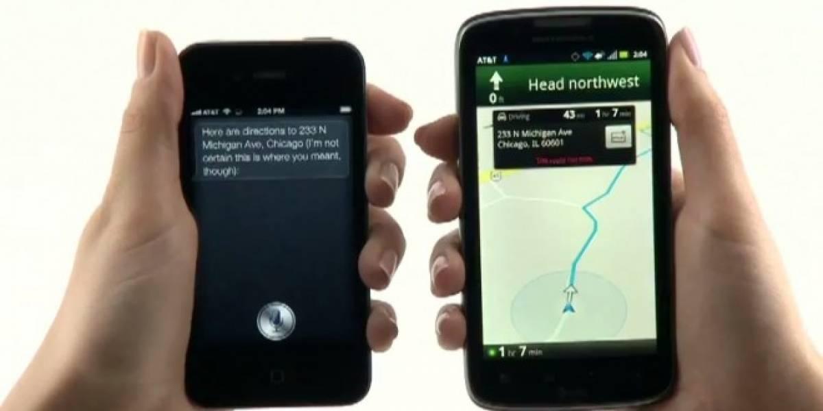 Oops, esta comparativa entre el Atrix 2 y el iPhone 4S deja en vergüenza a Siri