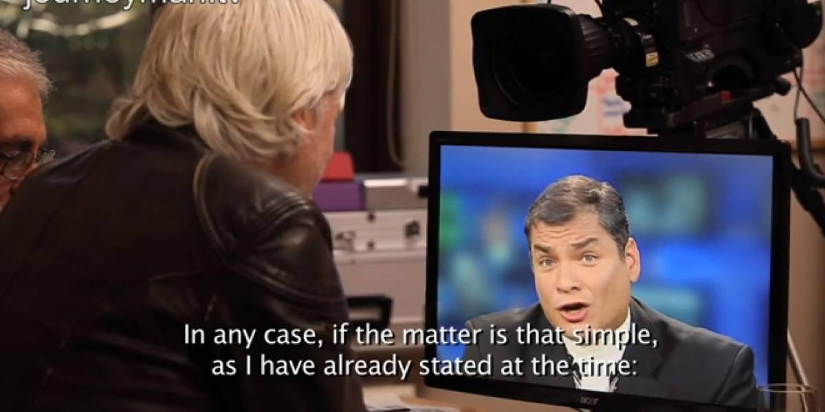 Julian Assange entrevista al presidente ecuatoriano Rafael Correa