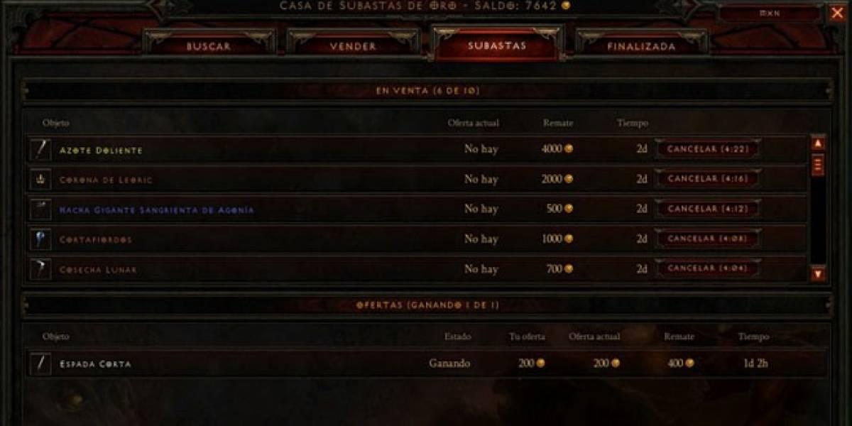 Casa de Subastas de Diablo III soportará tu moneda local