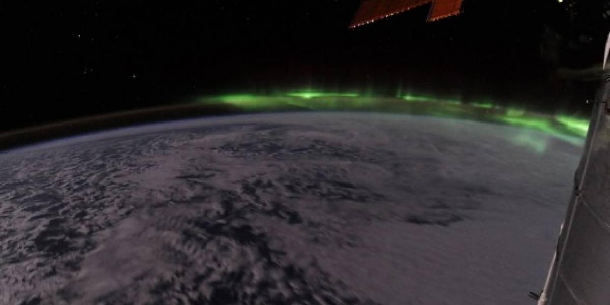 La aurora boreal vista desde la ISS