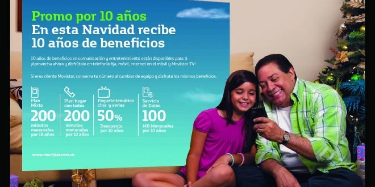 Venezuela: Promo navideña de Movistar obsequia 10 años de beneficios
