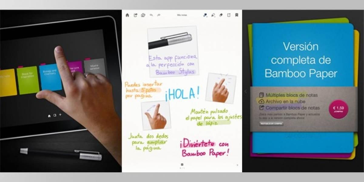 Nueva versión de la aplicación Bamboo Paper: Ahora con imágenes y fotos