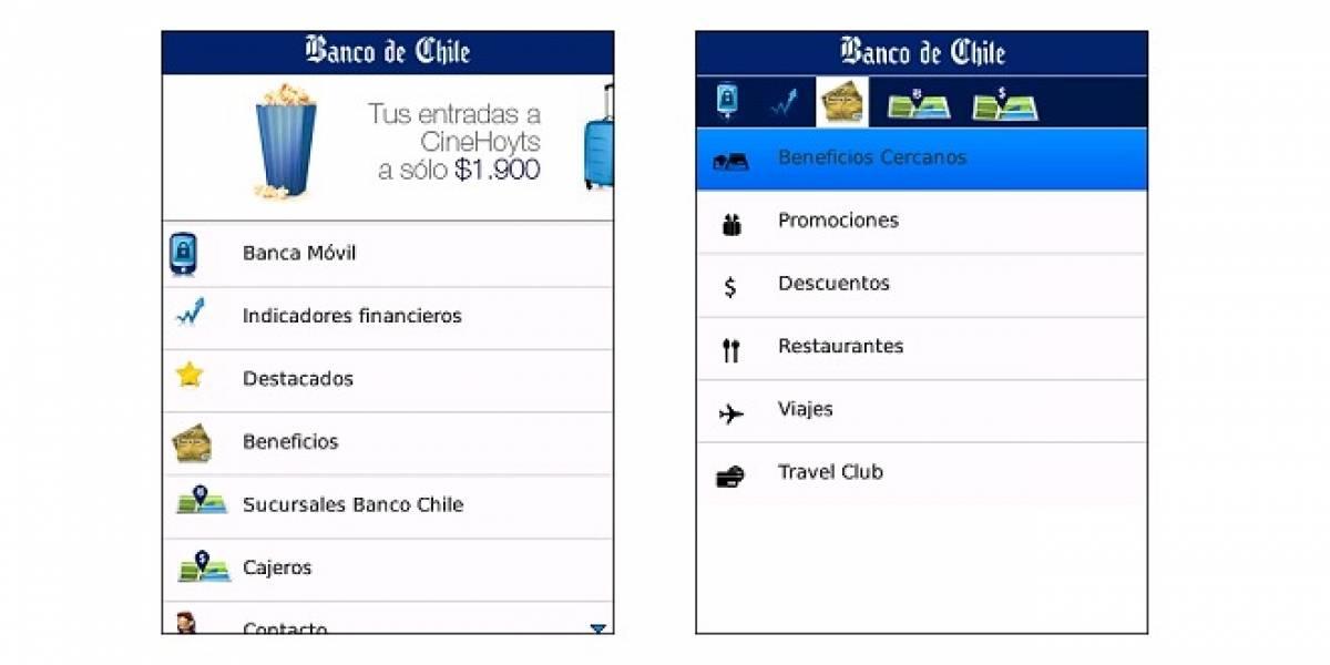 Chile: Los servicios del Banco de Chile ahora disponibles en tu BlackBerry