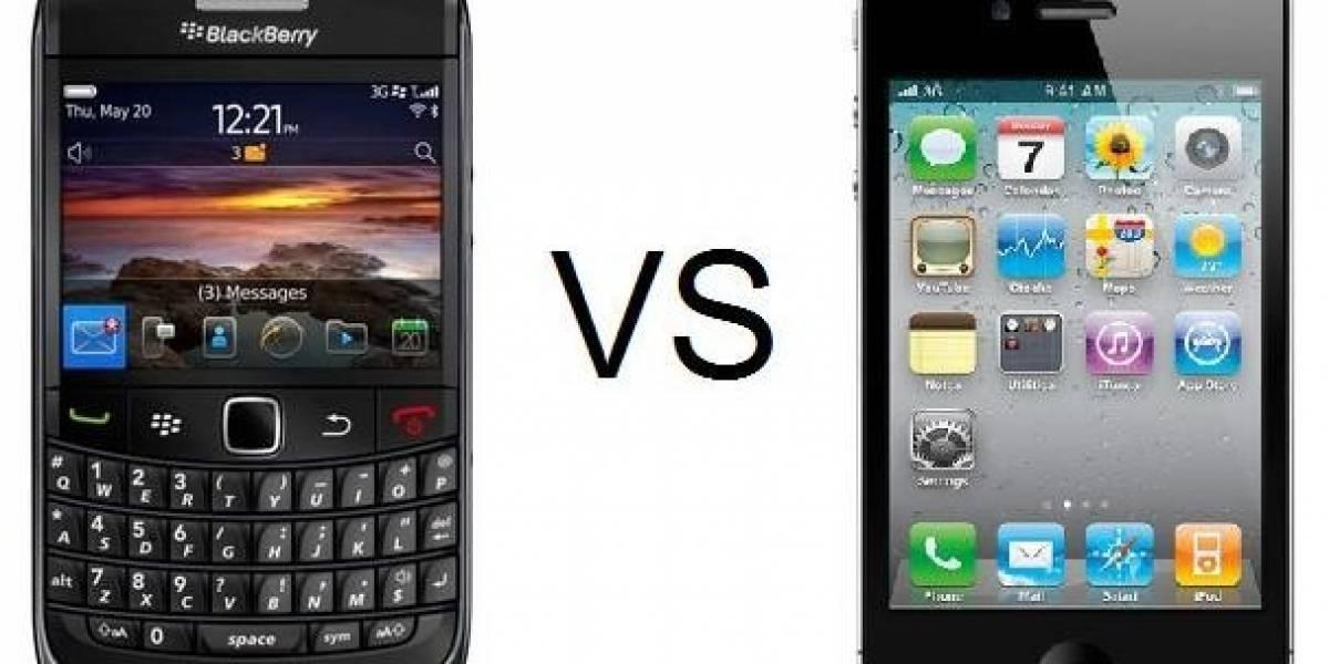 El iPhone ya es número uno en las empresas, dejando en segundo lugar a la BlackBerry