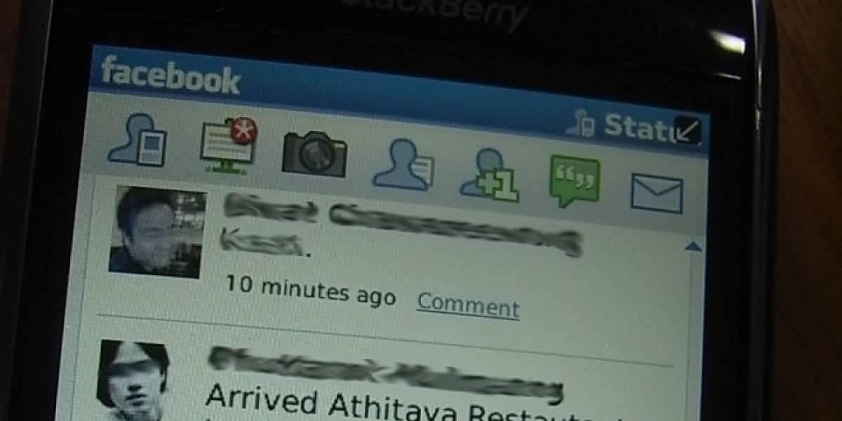 Aplicación de Facebook para Blackberry corregirá su más molesta falla