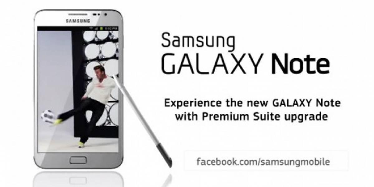 Samsung Galaxy Note ficha a Beckham en su nueva publicidad