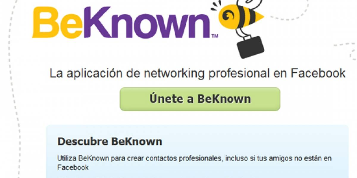 "Monster te ayuda a buscar empleo usando Facebook con ""BeKnown"""