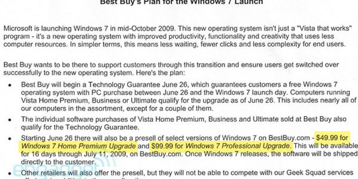 Windows Seven tendría un precio mucho menor al de Vista