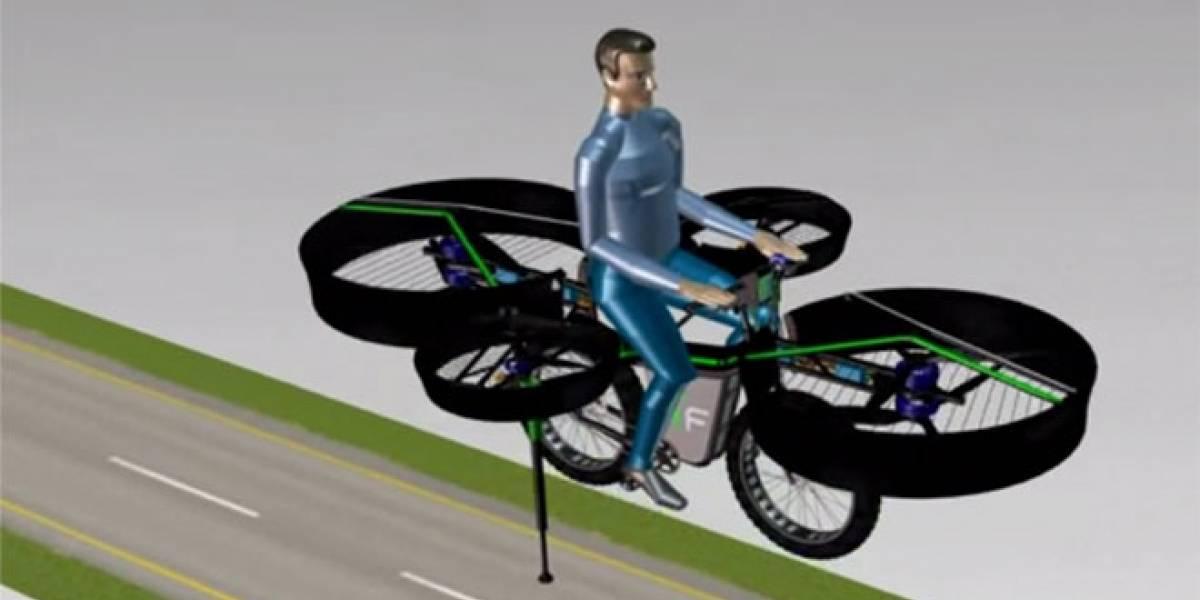 Científicos checos desarrollan una bicicleta voladora
