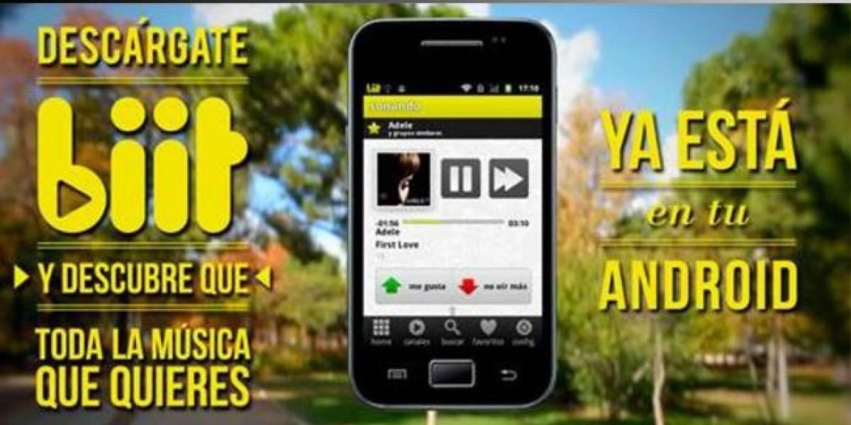 España: biit llega repotenciada al Android Market