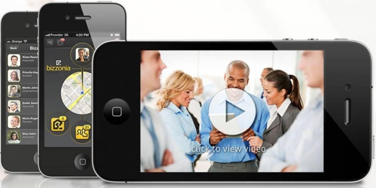 Bizzonia: Una aplicación que utiliza el GPS para descubrir qué profesionales tienes cerca