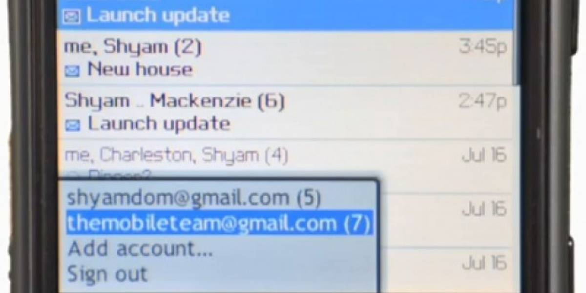 Google abandona Gmail app para Blackberry