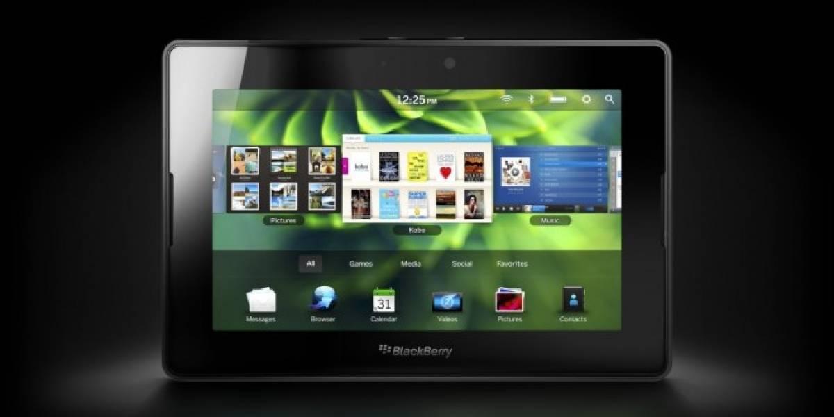 RIM lanza nueva actualización para su tableta PlayBook