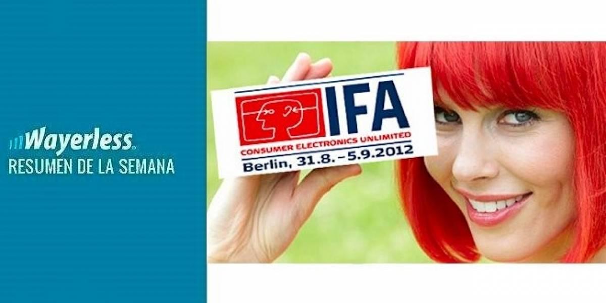 Resumen cobertura IFA 2012, Symbian Belle Refresh ya disponible, los cambios de Jelly Bean en el SG3, W Labs y más!