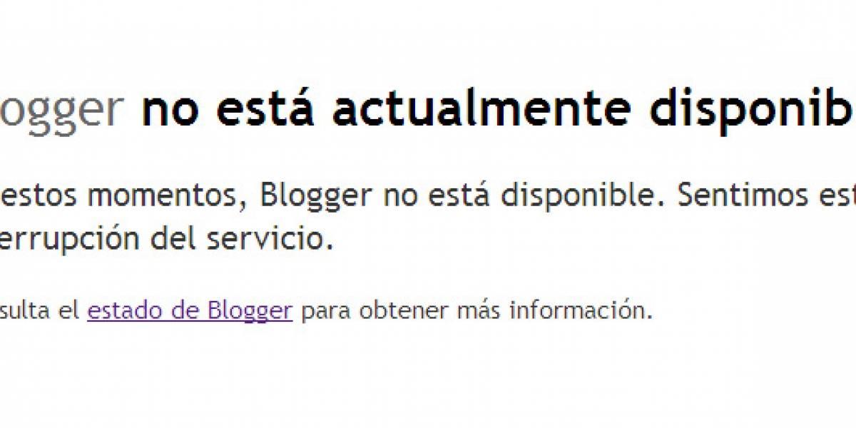 Blogger cumple dos días con problemas de servicio (Actualización: Volvió)