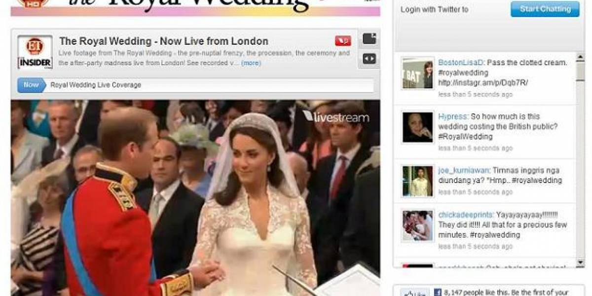 La Boda Real superó récord de espectadores en transmisiones online en vivo