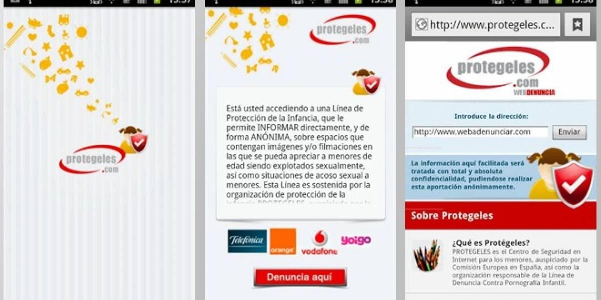 Una aplicación móvil contra la pornografía infantil en Internet