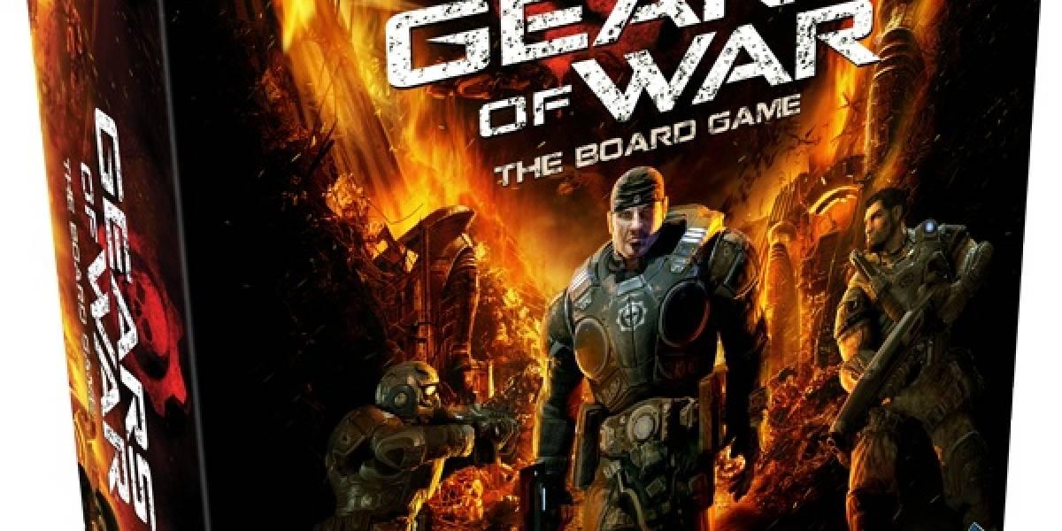 Muchas figuras musculosas en este juego de tablero de Gears of War