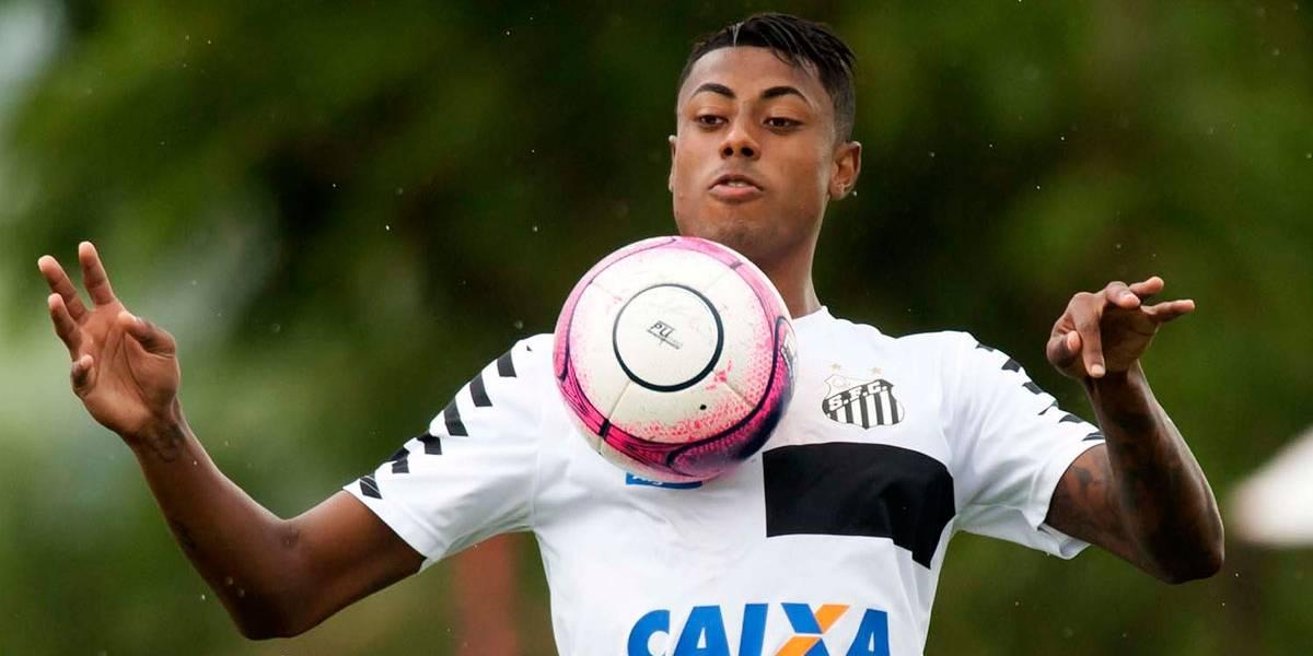 Bruno Henrique apresenta melhora de lesão, mas desfalca o Santos no domingo