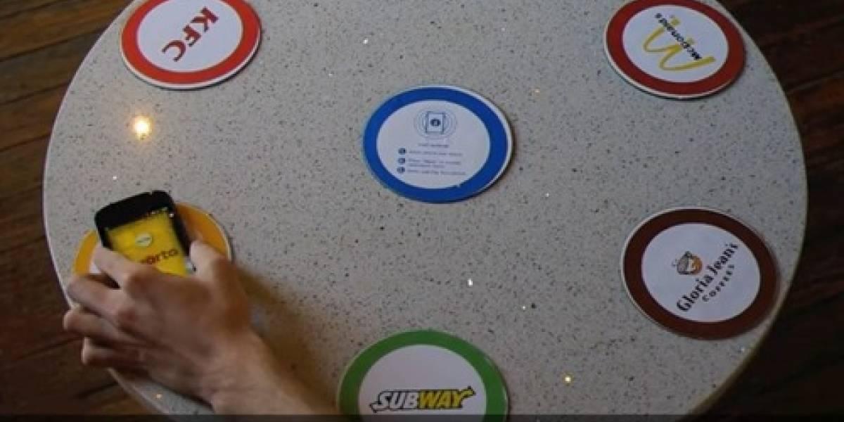 Ordena tu comida rápida vía NFC con BrandTable