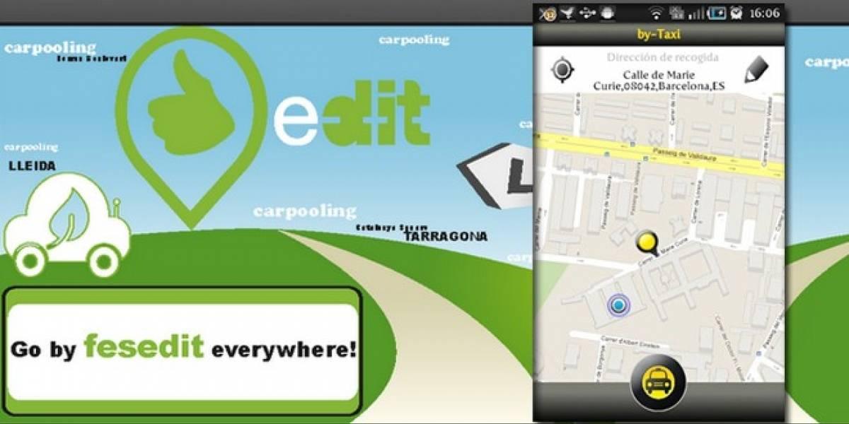 España: Compartir coche y encontrar taxi, aplicaciones ganadoras en el Apps4bcn