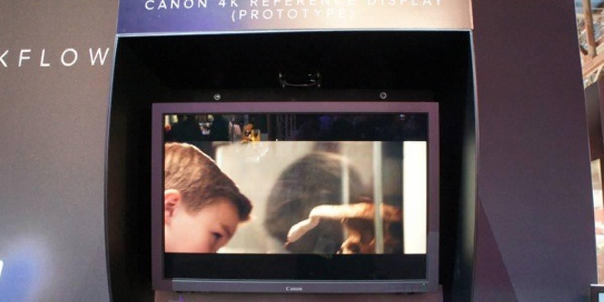 Canon muestra una pantalla de 30 pulgadas con resolución 4K