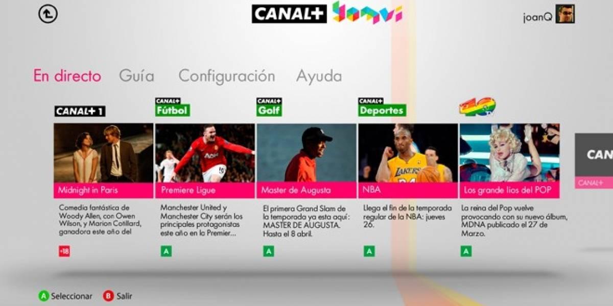 Canal+ Yomvi llega a Xbox 360 en España