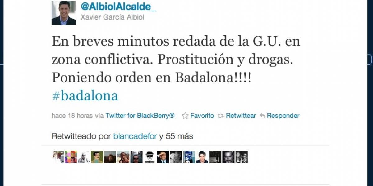 España: Alcalde anuncia en Twitter de una redada criminal antes de que se produzca