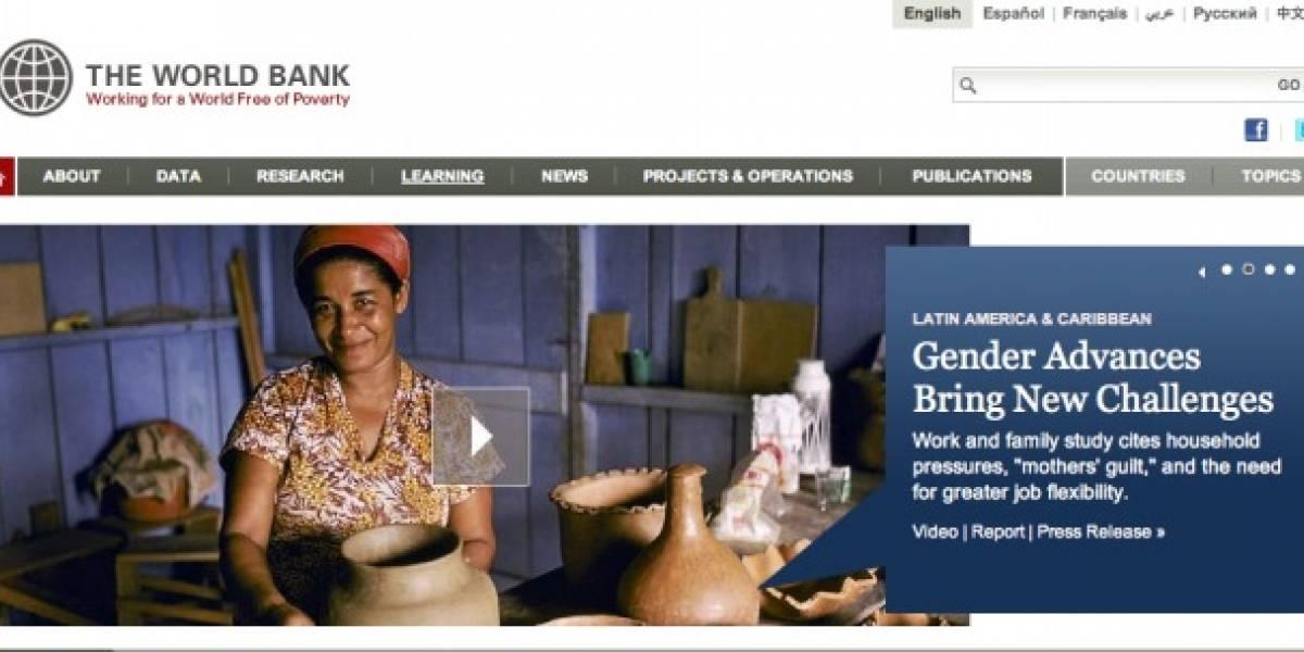 Banco Mundial lanza app para informar su actividad y proyectos