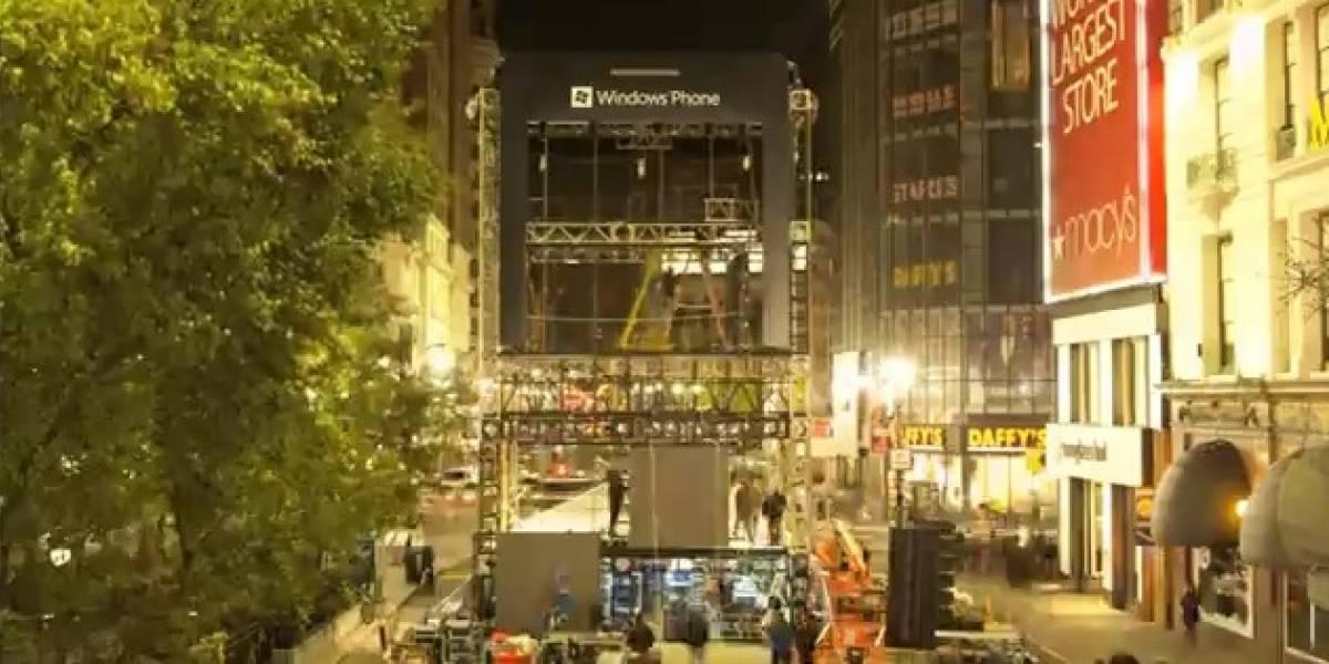 Microsoft construye un Windows Phone de 6 pisos en Nueva York