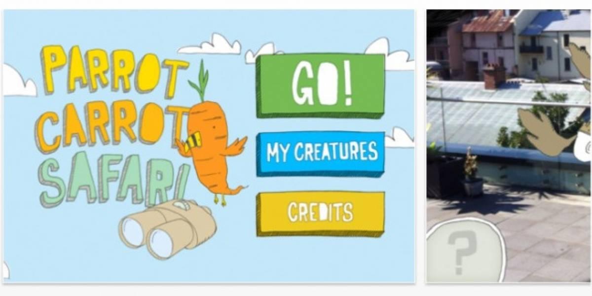 Parrot Carrot Safari, el primer libro para niños en realidad aumentada