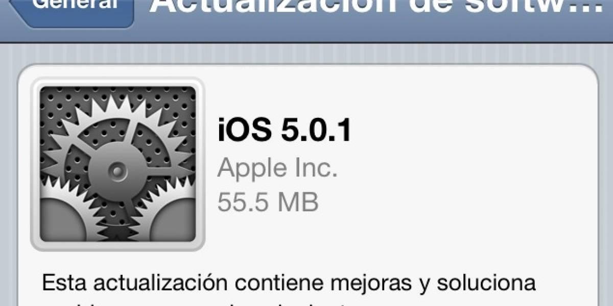 Apple libera iOS 5.0.1 mediante actualización OTA
