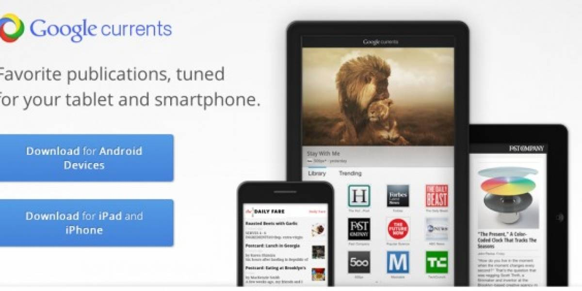 Google lanza Currents para Android e iOS