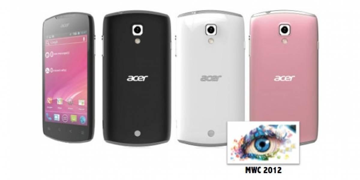 MWC 2012: Liquid Glow el móvil cursi de Acer con Android 4.0