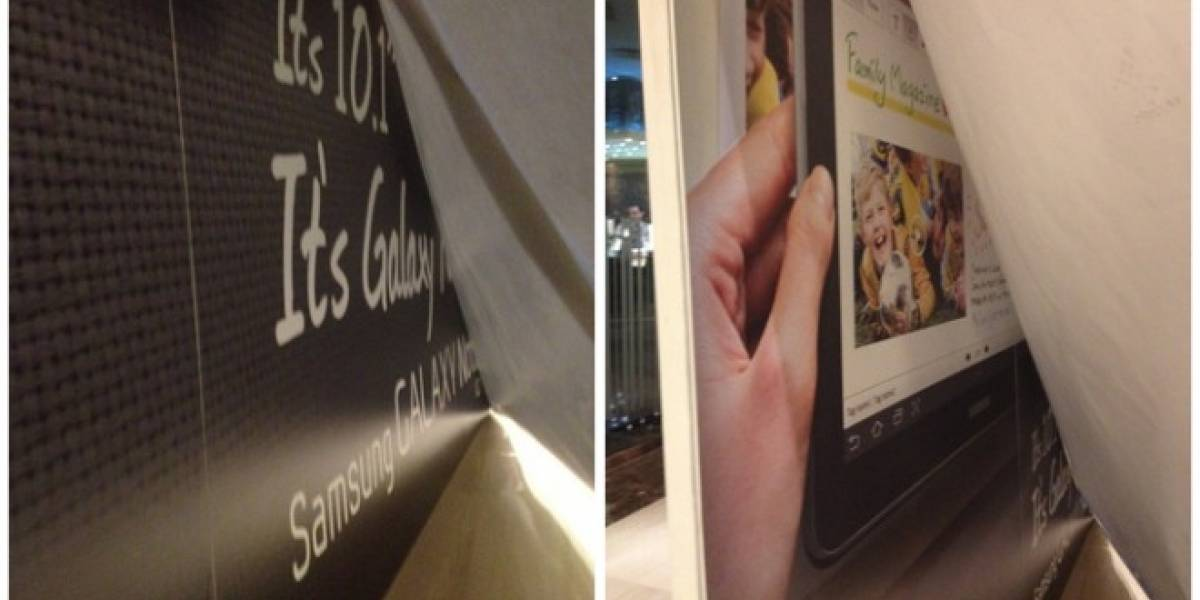 MWC12: Foto espía del stand de Samsung confirma el Galaxy Note 10.1 [Actualizado]