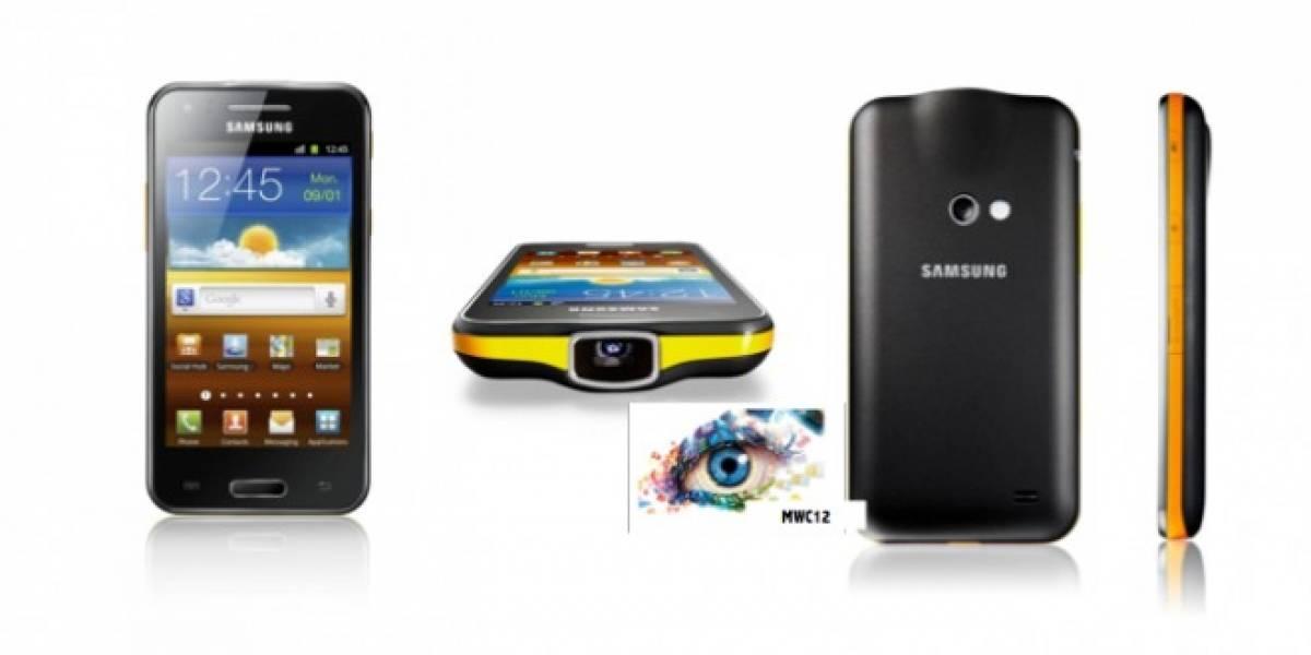 MWC12: Samsung Galaxy Beam, un móvil con proyector