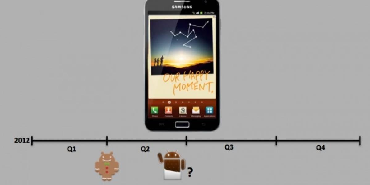 Ice Cream Sandwich para Galaxy Note saldría después de marzo